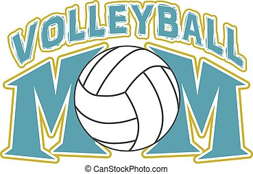 Volleyball Mom Design is an illustration of a design for ...