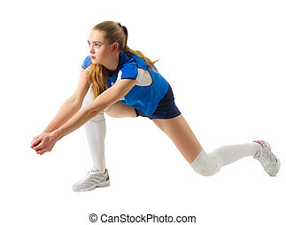 Volleyball player (ver ithout ball) - Young woman voleyball...