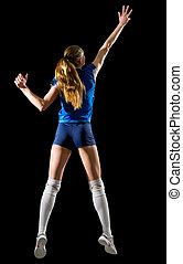 Volleyball player (ver without ball and net) - Young woman...