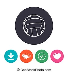 Volleyball sign icon. Beach sport symbol.
