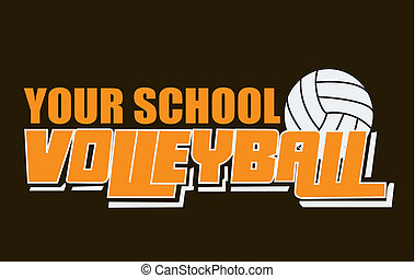 vector based volley ball design to add your own school name