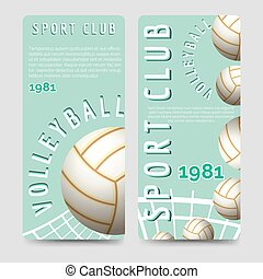 Volleyball sport club brochure template