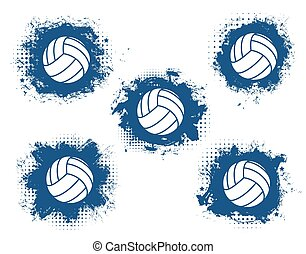 Volleyball sport game balls. Sporting equipment