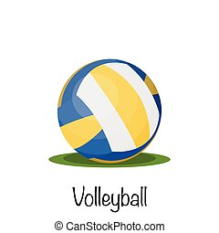 Volleyball sports game ball. vector illustration