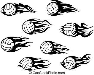 Volleyball sports tattoos