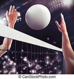 volleyball, streichholz