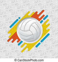Volleyball symbol with shadows