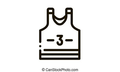 Volleyball T-shirt Icon Animation. black Volleyball T-shirt animated icon on white background