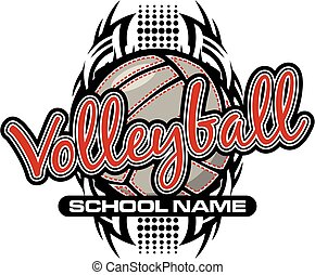 volleyball team design - tribal volleyball team design with...
