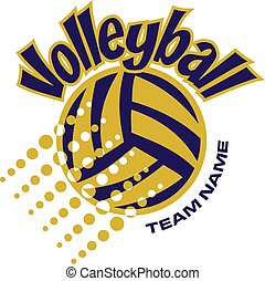 volleyball team design with ball and dots for school, ...