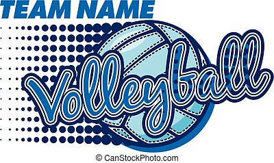 volleyball team design with ball and dots for school,...