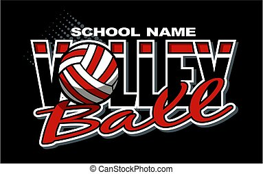 volleyball team design with ball for school, college or ...