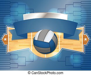 Volleyball Tournament Illustration
