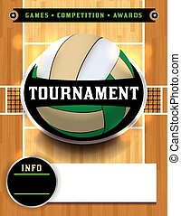 Volleyball Tournament Poster - An illustration for a...