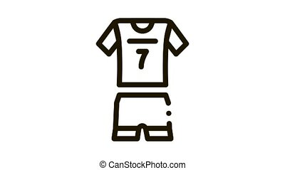 Volleyball Uniform Icon Animation. black Volleyball Uniform animated icon on white background