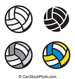 Volleyball design over white background vector ...