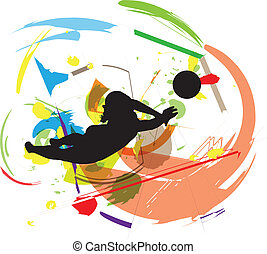 volleyball., vector, illustratie