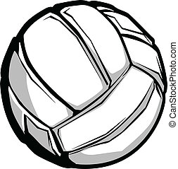 Vector Image of Graphic Volleyball