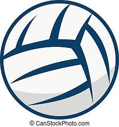 Volleyball vector logo design. - Volleyball ball logo...
