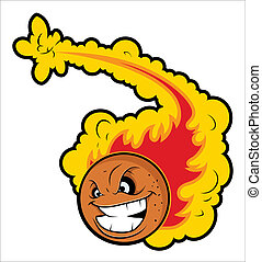 Volleyball with Fire Tale Mascot