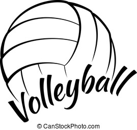Volleyball with Fun Text - Stylized vector illustration of a...