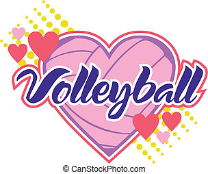 volleyball with hearts