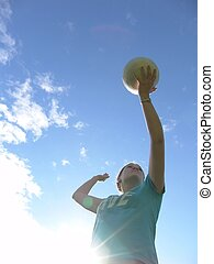 Volleyball - Young woman playing volleyball