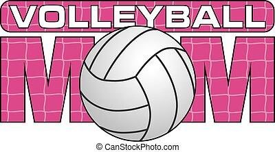 volleyboll, mamma