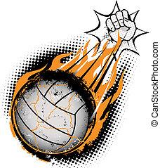 volleyboll, meteor