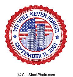 volontà, francobollo, noi, mai, dimenticare