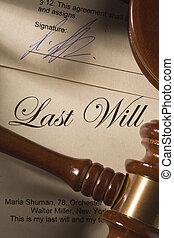 volonté, dernier, -, testament