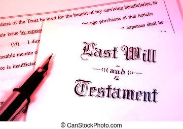 volonté, et, testament