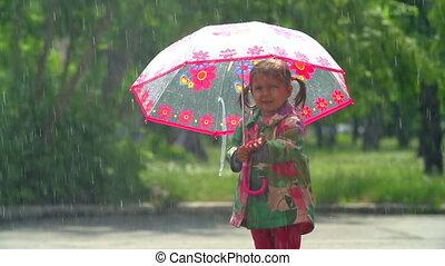 volonté, il, pluie