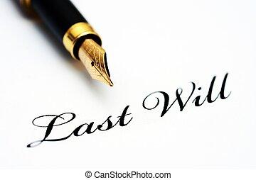 volonté, stylo, dernier