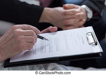 volonté, testament, document, dernier