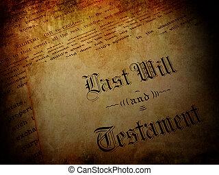 volonté, vendange, dernier, testament