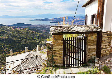 Volos city view from Pelion mount, Greece - Volos city and ...