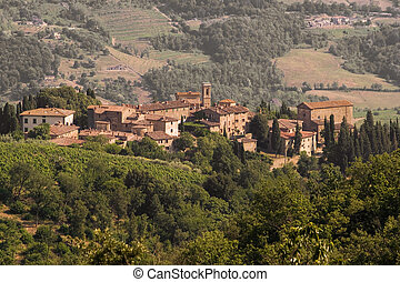 Volpaia, Tuscany - Volpaia, medioeval village in the heart...