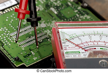 Voltage Meter - Electronic Board and Voltage Tester