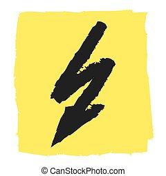 voltagem, ícone, vetorial, alto