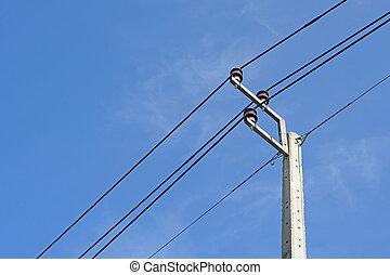 voltagem, polaco, elétrico, alto