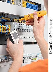 voltagem, switchboard