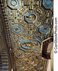 Volterra - Ceiling inside of cathedral