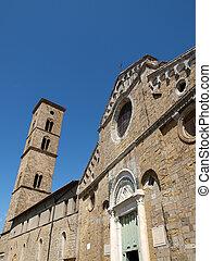 Volterra - the facade of Duomo and bell tower