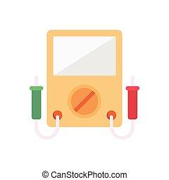 voltmeter  flat color icon