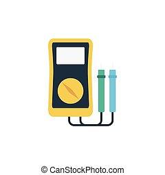 voltmeter flat icon