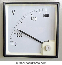 voltmeter for measuring the voltage of the electrical energy...