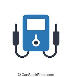 voltmeter  glyph color icon