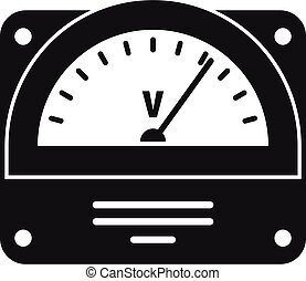 Voltmeter icon. Simple illustration of voltmeter vector icon for web design isolated on white background