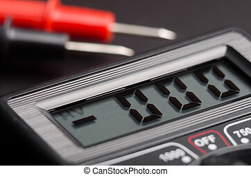 Voltmeter - Digital electric tester close up